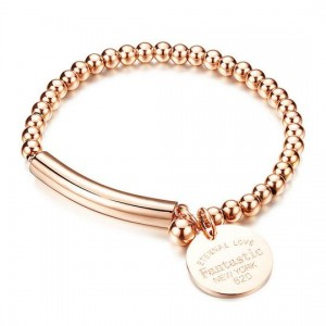 Medea '316L Stainless Steel Rosegold Bracelet