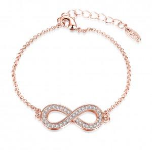 Melanie Infinity Rose Gold Plated Bracelet