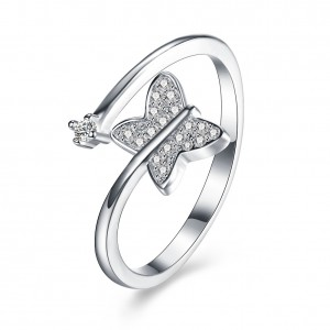 Melai 925 Sterling Silver  Adjustable Ring