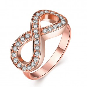 Melanie Infinity Rose Gold Plated Ring