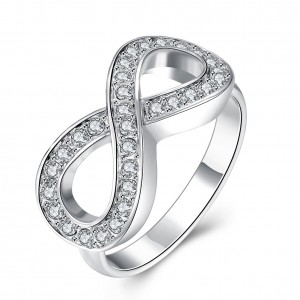 Melanie Infinity White Gold Plated Ring