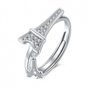 Milinda 925 Argento Silver Adjustable Ring