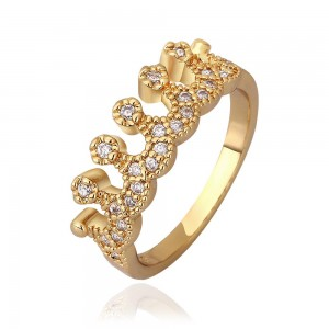 Mishca 18K Gold Plated Princess Ring