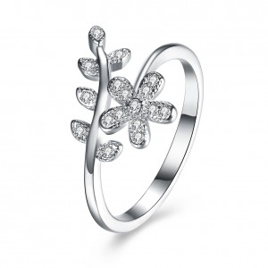 Misha Leaf 925 Sterling Silver  Ring