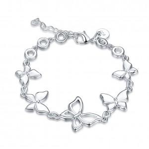 Monalisa 18k White Gold Plated Bracelet