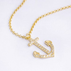 Nami Anchor 18k Gold Plated Necklace