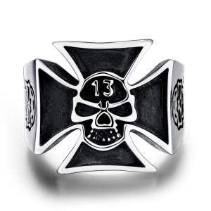 Oswald 316L Stainless Steel Men's Ring