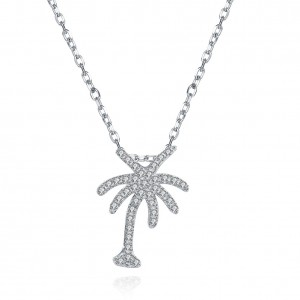 Palm Tree 925 Sterling Silver  Necklace