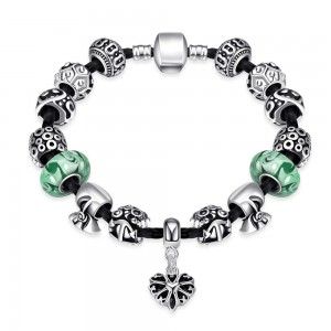 Pand Green Bracelet Silver Plated