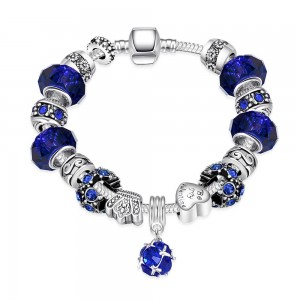 Pand Sapphire Bracelet Silver Plated