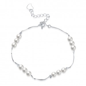 Piper Pearl White Gold Plated Bracelet