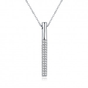 18k White Gold Plated The Prism Necklace