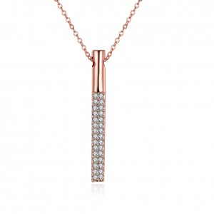 18k Rose Gold Plated Elegant Prism Necklace