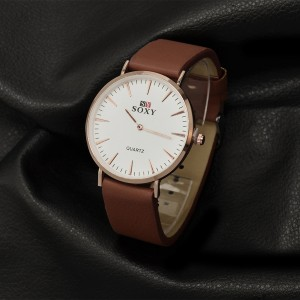 Prospera Watch (White Face with Brown Strap)