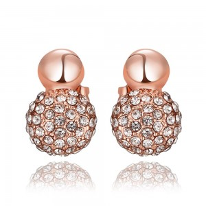 Quebec Rose Gold Plated Earrings