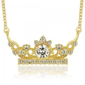 18k Gold Plated Queens Necklace
