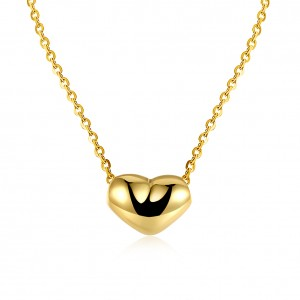 Raven Simple Heart 18K Gold-Plated Necklace