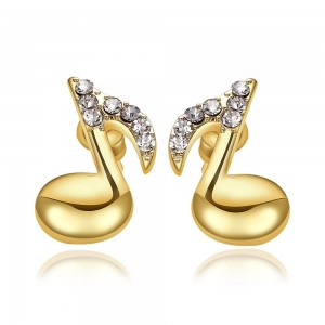 Regine Musical Note 18k Gold Plated Earrings