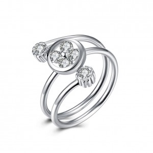 Remy 925 Argento Silver Adjustable Ring