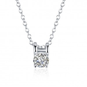 18k White Gold Plated Roxanne Necklace