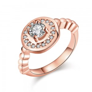 Royal Diamond Rose Gold Ring Size 7