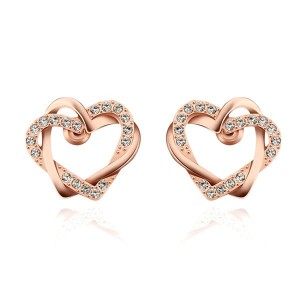 Shaina Heart 18K Rose Gold Plated Earrings