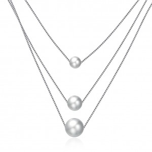 Shania Pearl 925 Sterling Silver  Necklace