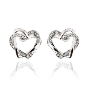 Shaina 18K White Gold Plated Earrings