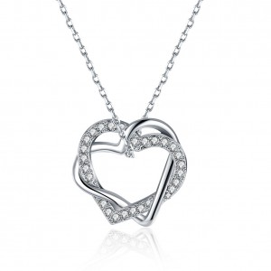 Shaina 18K White Gold Plated Necklace