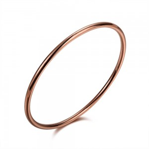 Slim Rose Gold Plated Bangle