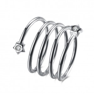 Spira 18k White Gold Plated Ring