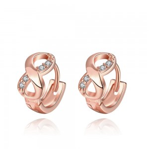 Suzette Infinity Rose Gold Plated Earrings