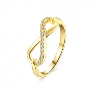 Suzette 18k Gold PlatedInfinity Ring