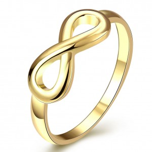 Suzanne Infinity Plain 18K Gold Plated Ring