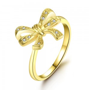 Sweet Ribbon 18k Gold Plated Ring