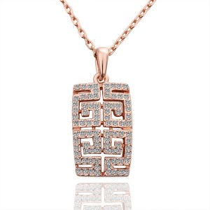 Tory Maze Necklace with Stones