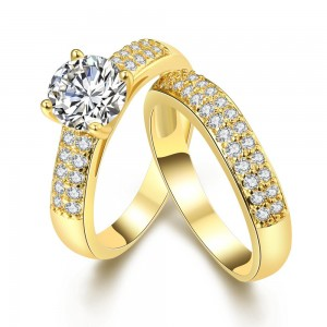 Tower Ring 18K Gold Plated