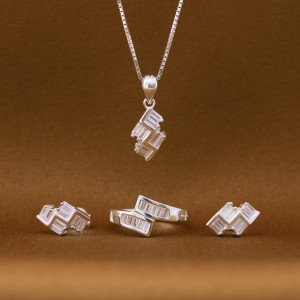Willen 925 Silver Necklace, Earrings and Ring Set (Clearance Sale SRP1,899)