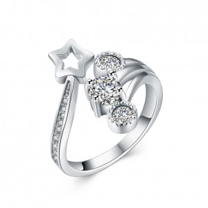 Tyra 925 Argento Silver Adjustable Ring