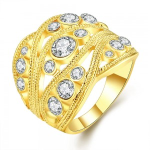 Valkyrie 18K Gold Plated Ring by Elite