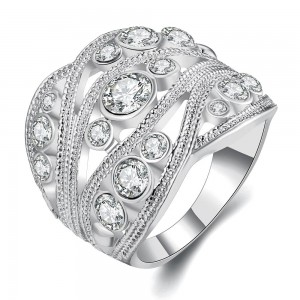 Valkyrie White Gold Plated Ring