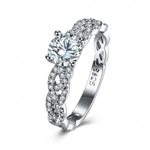 Vanessa 925 Sterling Silver  Engagement Ring