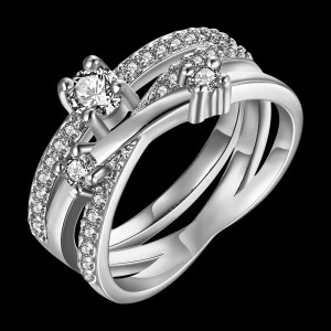 Vermina 18K White Gold Plated Ring