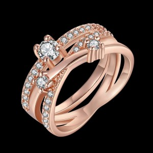 Vermina 18K Rose Gold Plated Ring