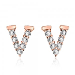 Vivian 18K Rose Gold Plated Earrings