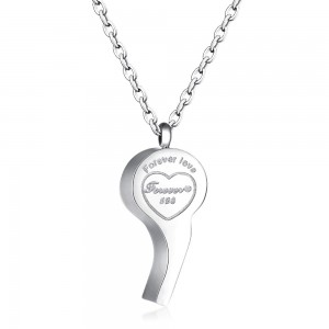 Whistle '316L Stainless Steel Silver Necklace