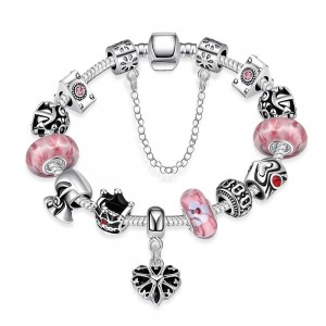 Pandee Pink Bracelet Silver Plated