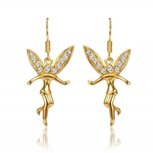Aliyah Dangling 18K Gold Plated Earrings