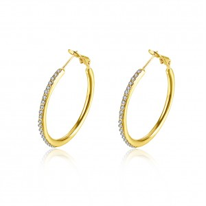 Angelina 18K Gold Plated Round Earrings