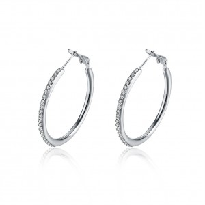Angelina 18K White Gold Plated Earrings
